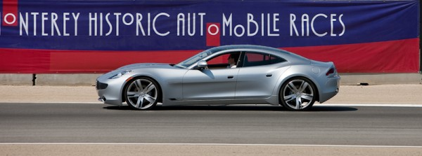 Fisker electric hybrid at Laguna Seca racetrack