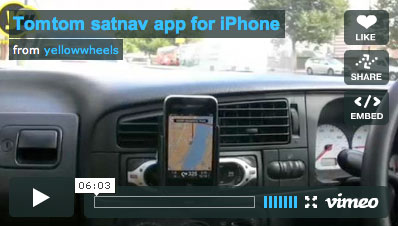 video review of Tomtom app for iPhone