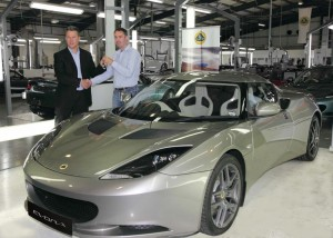 Lotus Evora first customer delivery at Hethel factory