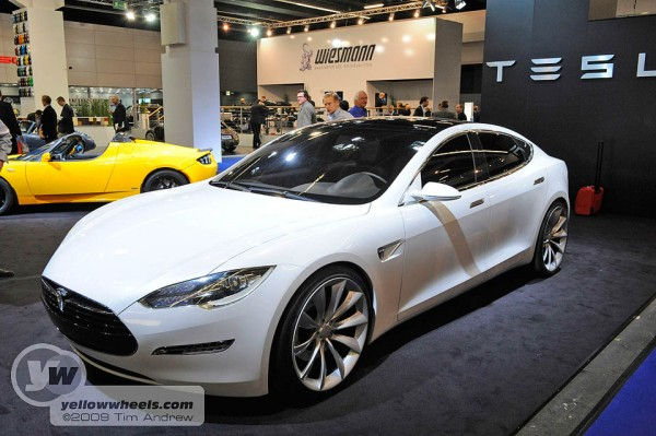 Tesla S all-electric saloon