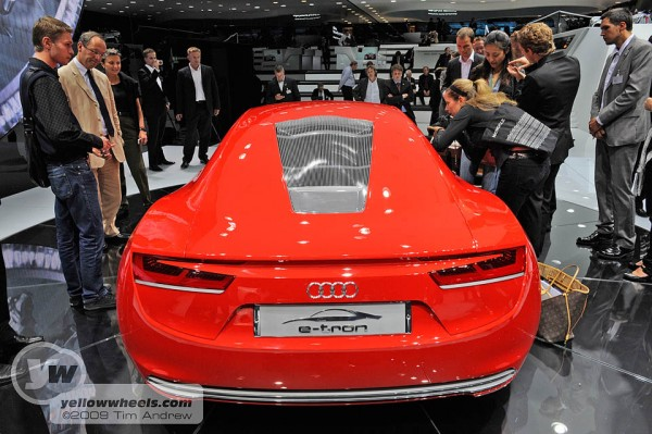 Audi e-tron rear view