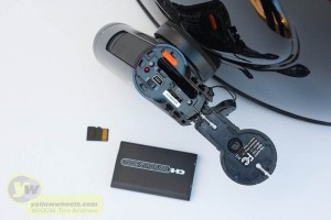 ContourHD with battery and mini-SD card removed