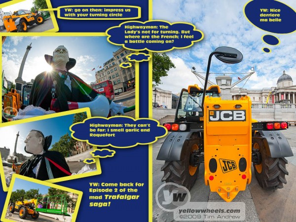 Is it a bird, is it a plane? no it's Adam Lyal (deceased) and his JCB