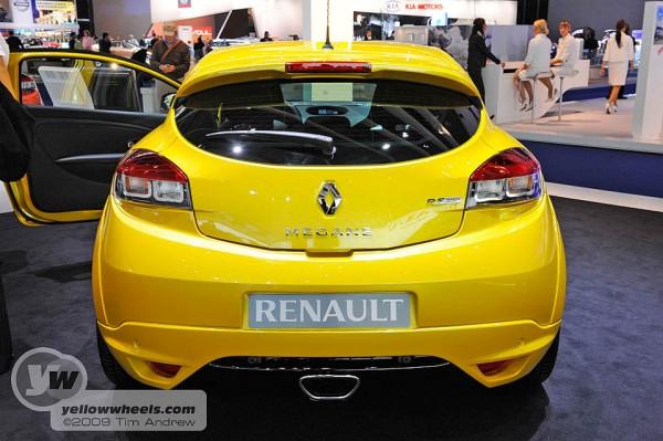 Megane Renaultsport 250 rear at frankfurt Motor Show