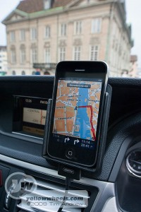 Tomtom, iPhone, Merc in Zurich
