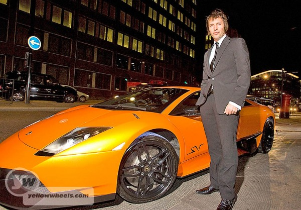 James Blunt arrives in Murcielago at Pirelli Calendar launch in London