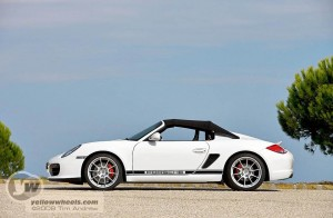 Porsche Boxter Spyder with tent and awning