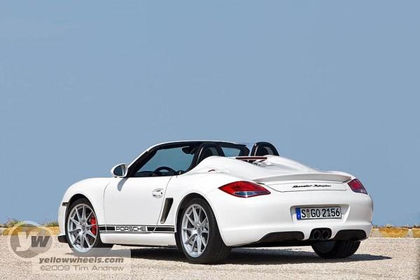 Porsche Boxter Spyder showing Carrera GT like rear deck