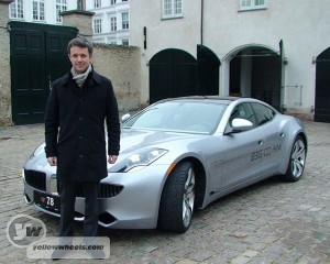 Denmark's Crown Prince HRH Frederik and Fisker Karma