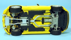 Tamiya 1/24 scale Nissan 370Z chassis and suspension
