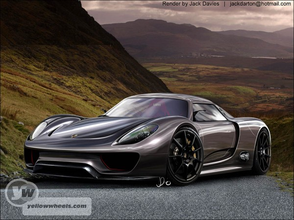 porsche 918 hybrid spyder concept roof rendering. Black Bedroom Furniture Sets. Home Design Ideas