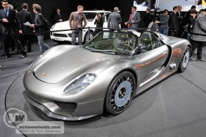Porsche 918 Hybrid Spyder at the 2010 Geneva Show