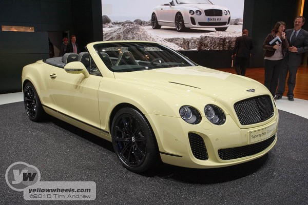 Geneva Motor Show - Bentley Continental Supersports with FlexFuel